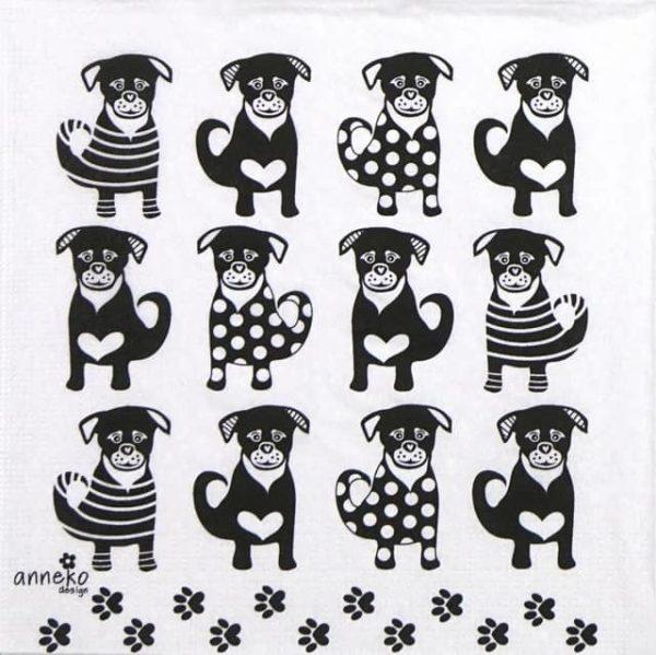 Paper Napkin - Anneko Design: Twelve Dogs