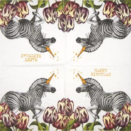 Paper Napkin - Pabuku: Unicorn Zebra
