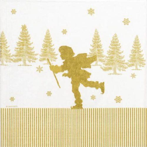 Paper Napkin - Sanmartin: Ice Skating Papercut