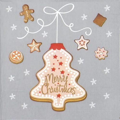 Paper Napkin - Ute Bornholt: Cookies Tree Grey