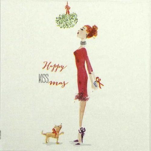 Paper Napkin - B'Sonders: Happy Kiss-Mas