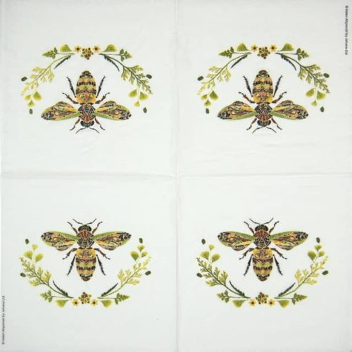 Cocktail Napkins (20) - Helen Ahpornsiri: Green Bee