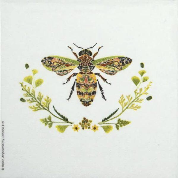 Cocktail Napkins (20) - Helen Ahpornsiri: Green Bee
