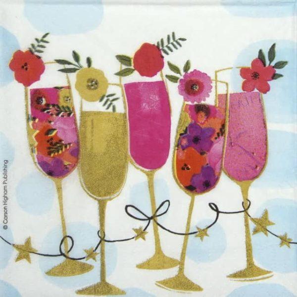 Cocktail Napkins (20) - Carson Higham: Happy Drinks
