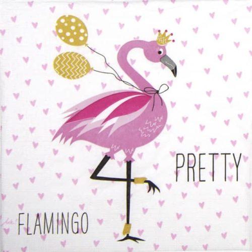 Paper Napkin - Ute Krause: Pretty Flamingo