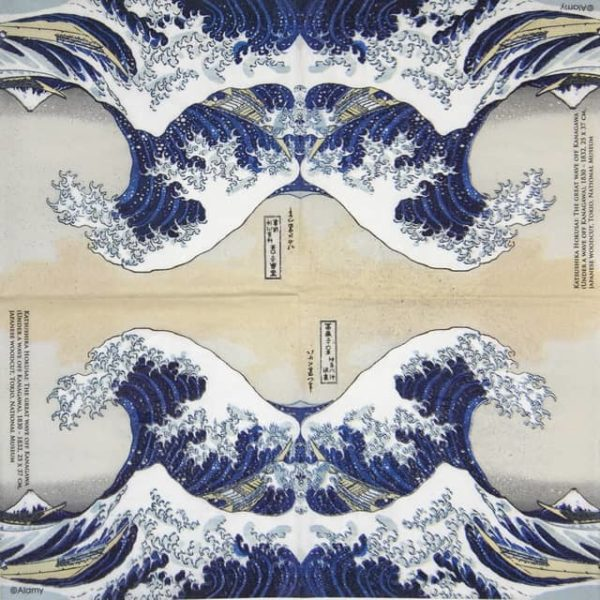 Cocktail Napkins (20) - Alamy: The Great Wave