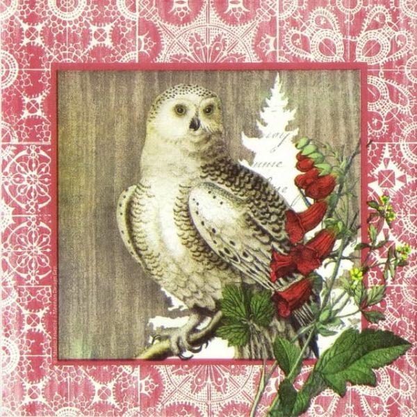 Paper Napkin - Studio Frivolité: Winter Woods Owl