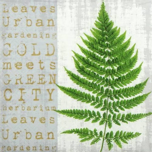 Paper Napkin - Gold Meets green