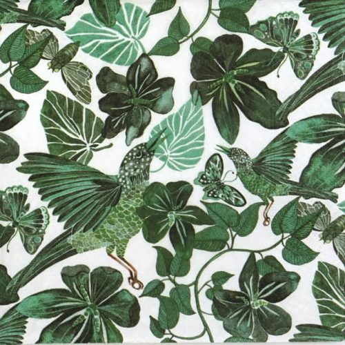 Paper Napkin - Jungle Dance Green
