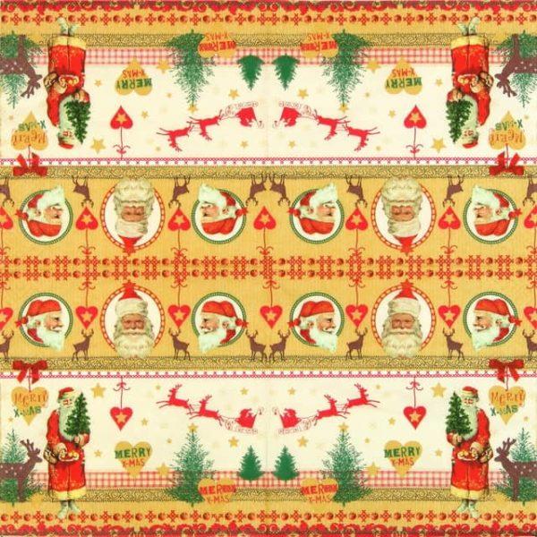 Paper Napkin - Pictures of Santa