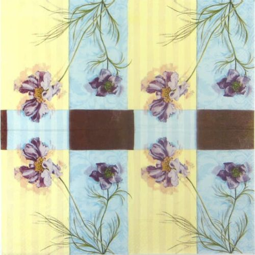 Paper Napkin - Purple Flowers