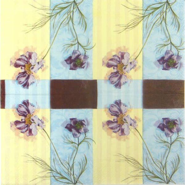 Paper Napkin - Purple Flowers