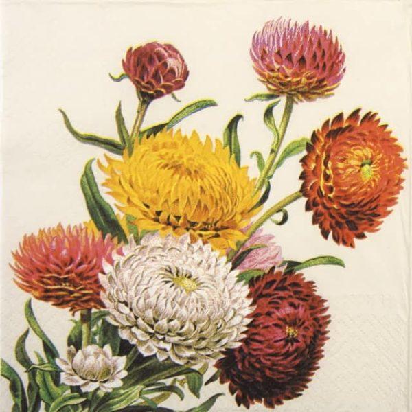Lunch Napkins (20) - Strawflowers