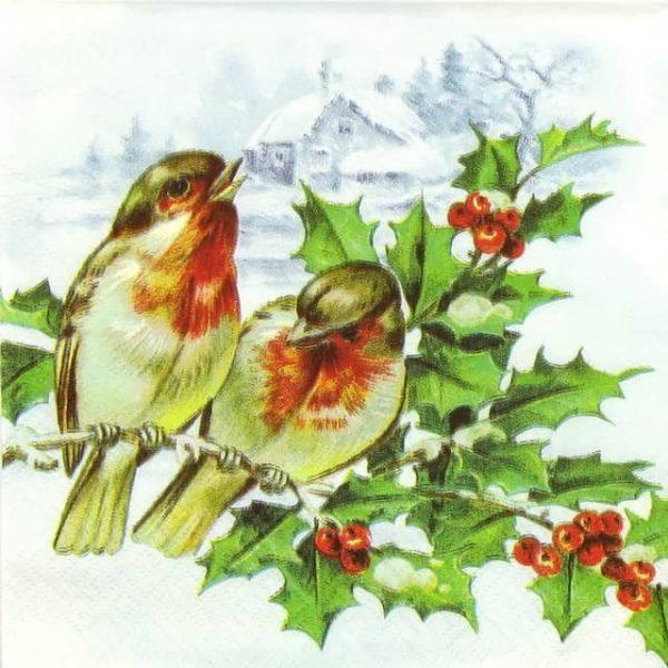 Paper Napkin - Winter Birds