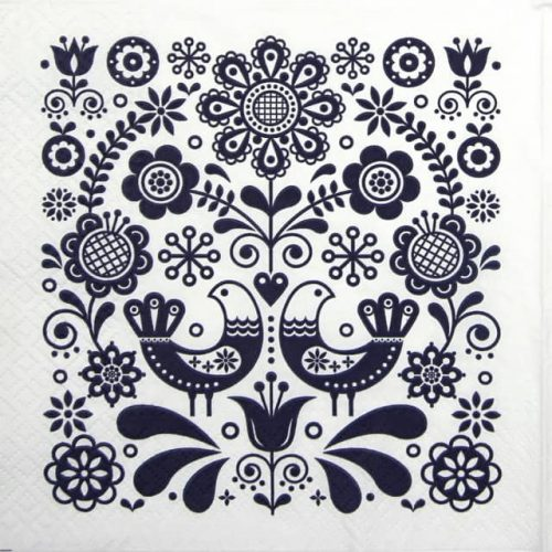 Lunch Napkins (20) - Folk Stamp