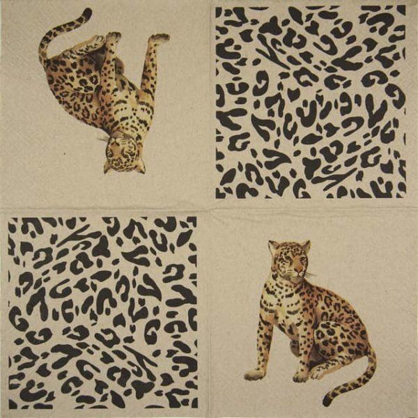 Paper Napkin - We Care Leopard