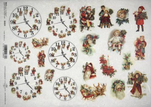 Rice Paper - Small Christmas clocks
