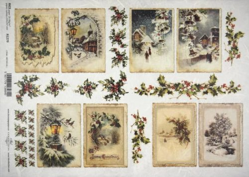 Rice Paper - Old Christmas cards