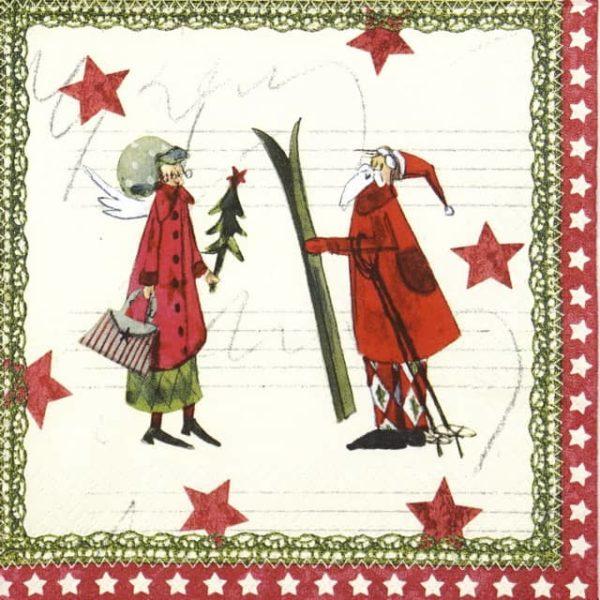 Paper Napkin - Silke Leffler: Christmas Magic