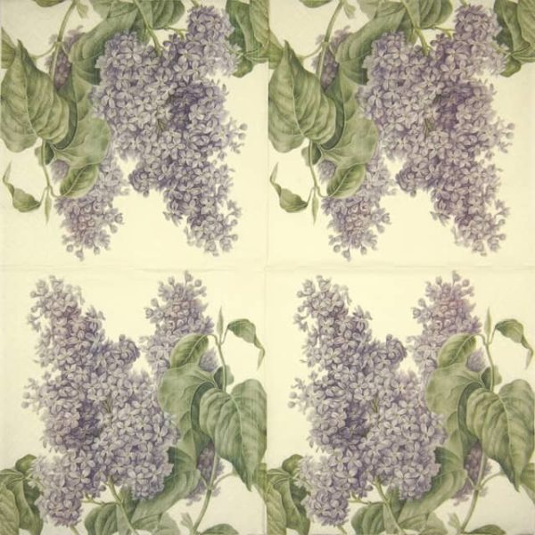 Lunch Napkins (20) - Lilac Flower