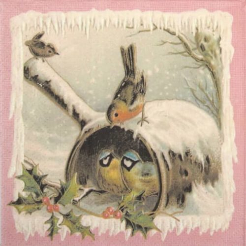 Lunch Napkins (20) - Christmas birds