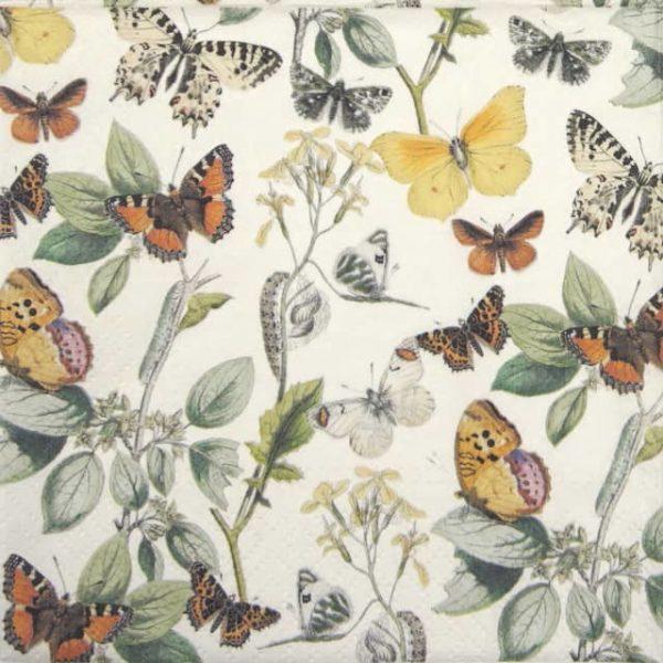 Lunch Napkins (20) - Butterflies
