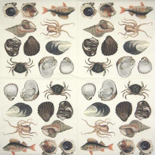 Paper Napkin - Sea Creatures
