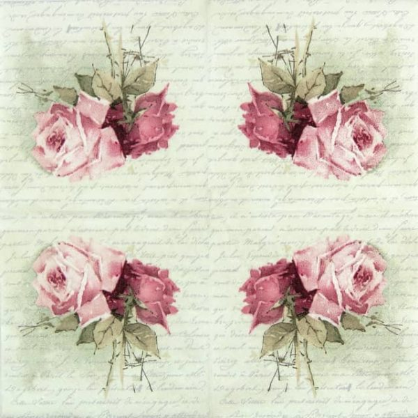 Paper Napkin - Rose Poem Lunch