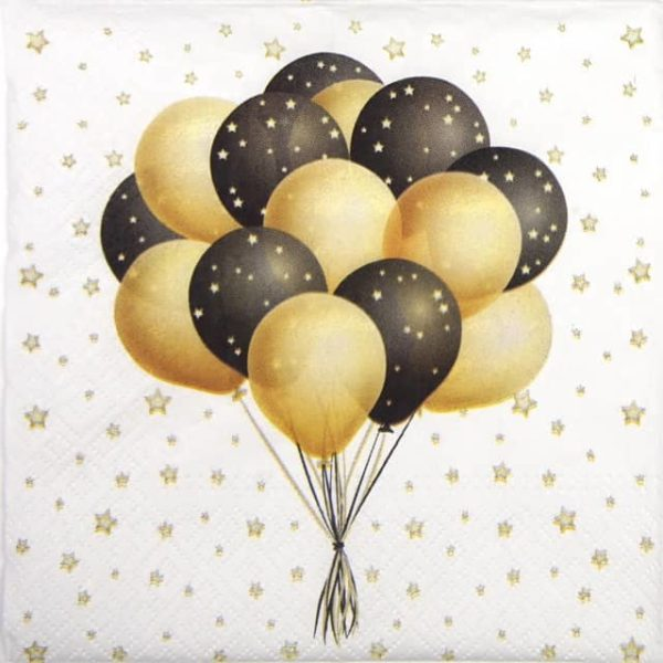 Lunch Napkins (20) - Flying Balloons
