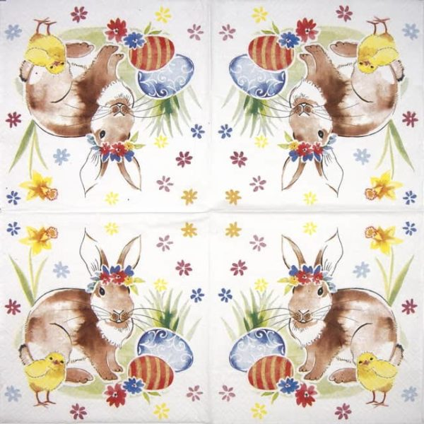 Lunch Napkins (20) - Easter Friends