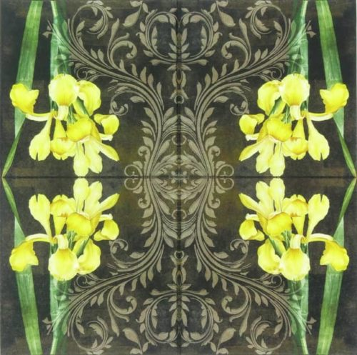 Paper Napkin - Iris Amarillo Black