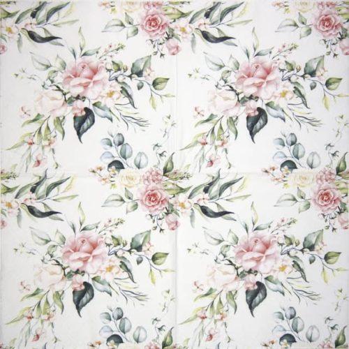 Paper Napkin - Blush Pink Bouquet