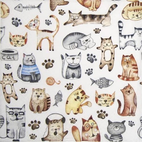 Lunch Napkins (20) - Pet Cats