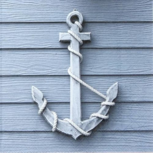 Paper Napkin - Wooden Anchor
