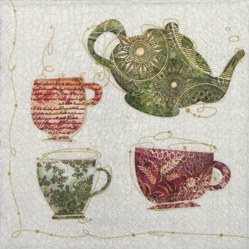 Lunch Napkins (20) - Tea Cups with a Teapot