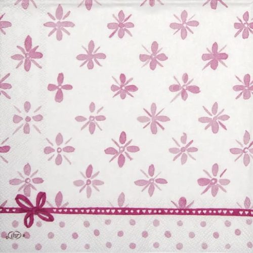 Cocktail Napkin - Darcy light rose