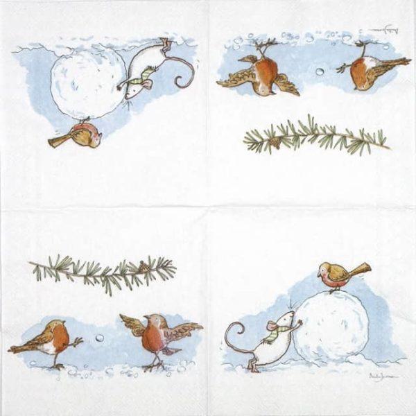 Cocktail Napkin - Anita Jeram: Winter Games