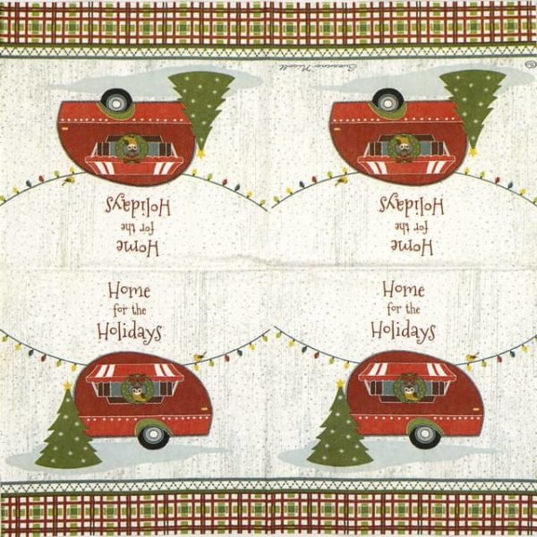 Cocktail Napkin - Home for the Holidays