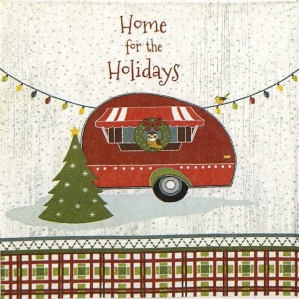 Cocktail Napkins (20) - Home For the Holidays
