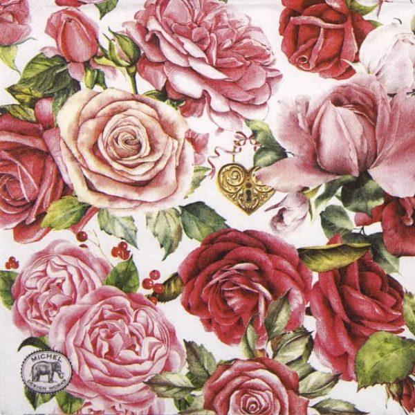 Paper Napkin - Royal Rose