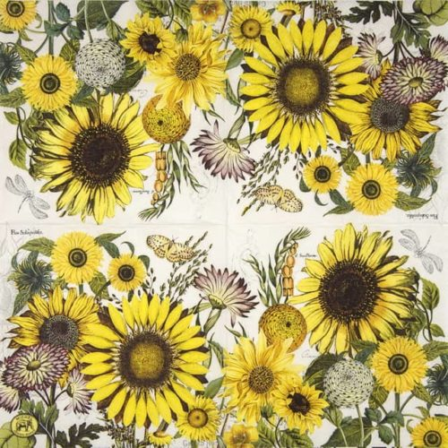 Lunch Napkins (20) - Sunflowers