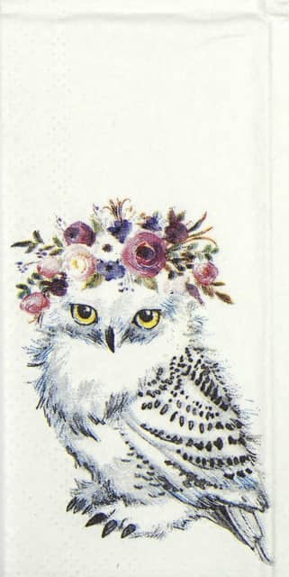 Handkerchiefs - Garden Party Owl