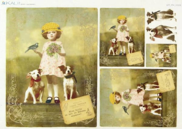 Rice Paper - Old Pictures Miss Dolly