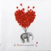 Paper Napkin - Rococco: Love Carries All