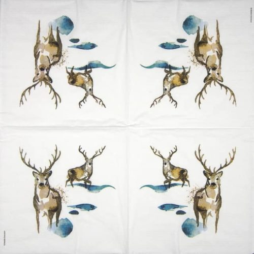 Lunch Napkins (20) - Matilda Svensson: Deer Watercolor