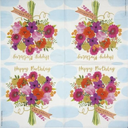 Cocktail Napkins (20) - Carson Higham: Happy Flowers