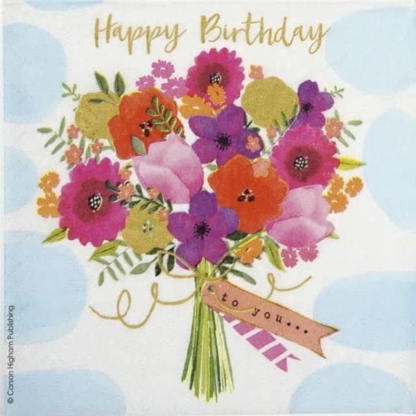 Cocktail Napkins (20) - Carson Higham: Happy Flowers