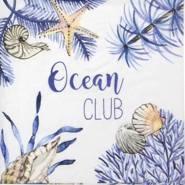 Cocktail Napkin - Dominique Tage: Ocean Club