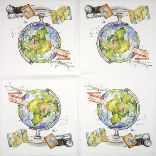 Paper Napkin - Carola Pabs: One World