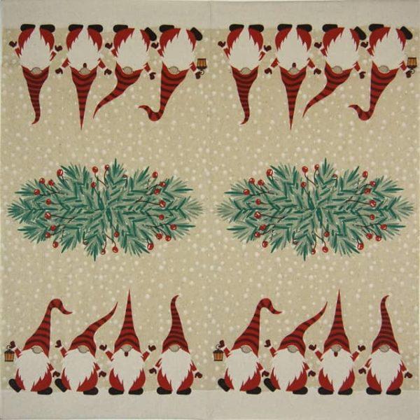 Paper Napkin - Happy Santas